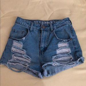 BUNDLE 4/$15 High rise ripped jean shorts